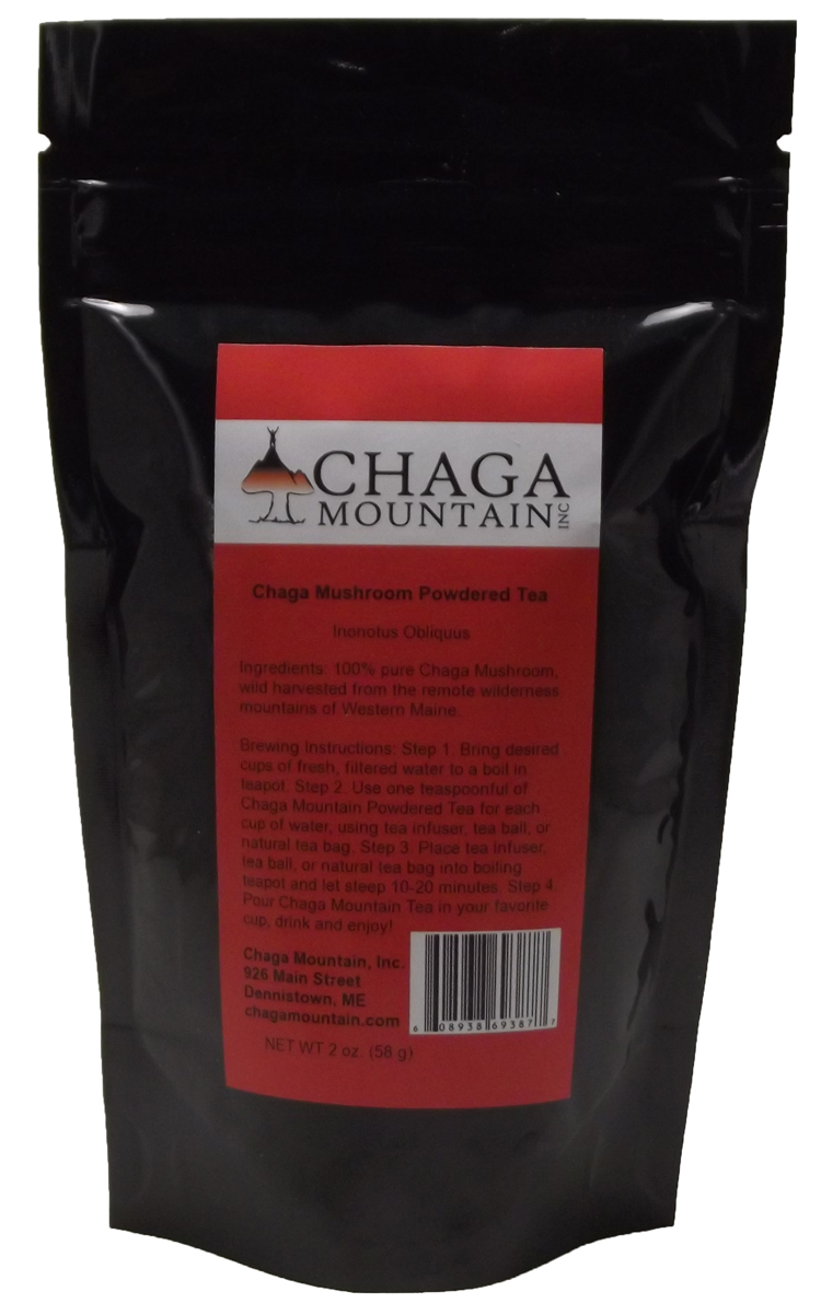 Ground Chaga Tea 2 Oz.