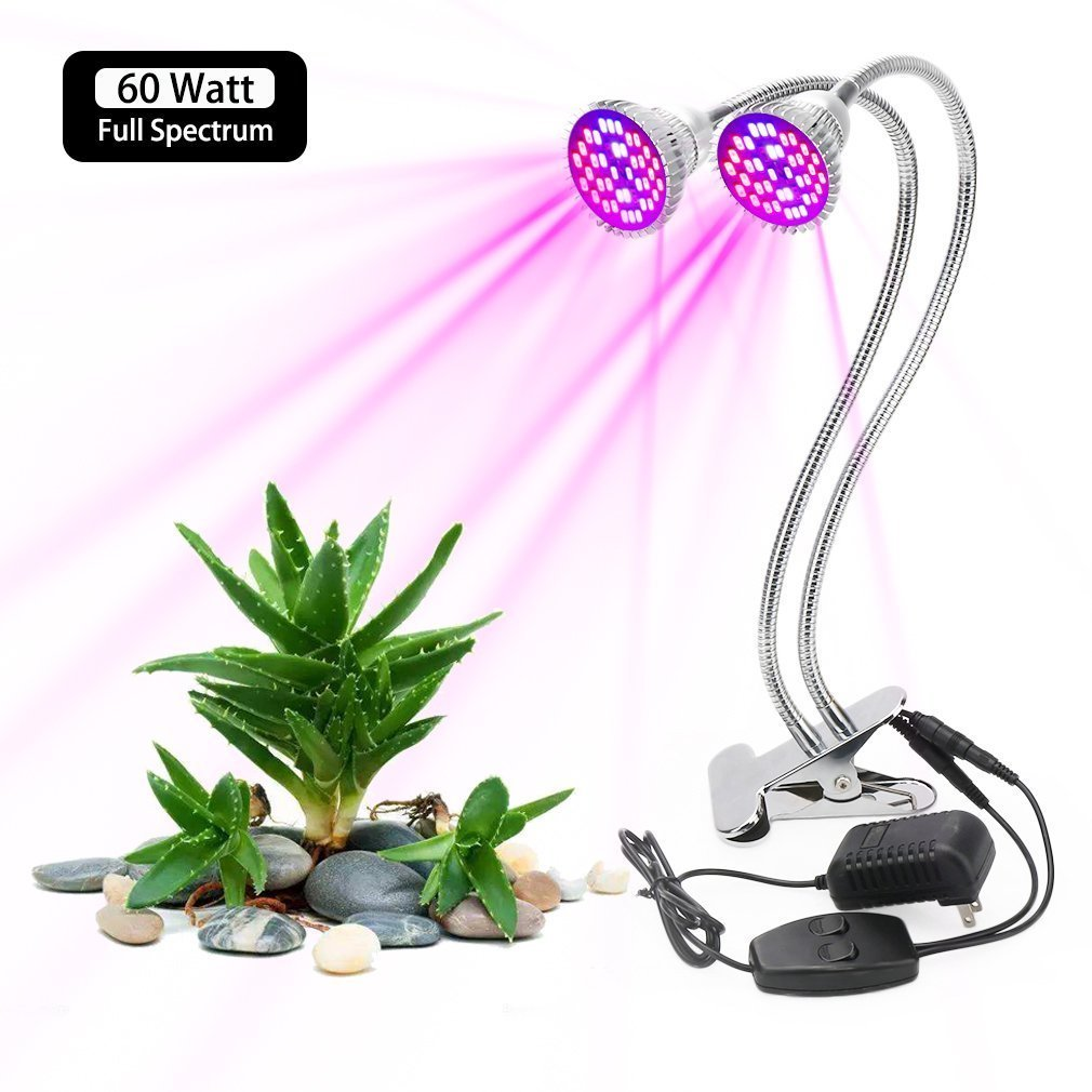 60 Watt Dual Head LED Grow Light