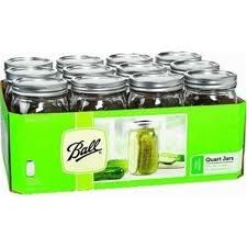 Wide Mouth Ball® Mason Quart Jars