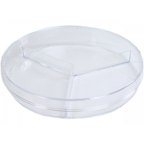 Petri Dish 100 X 15mm Pack of 20 With 3 Sections